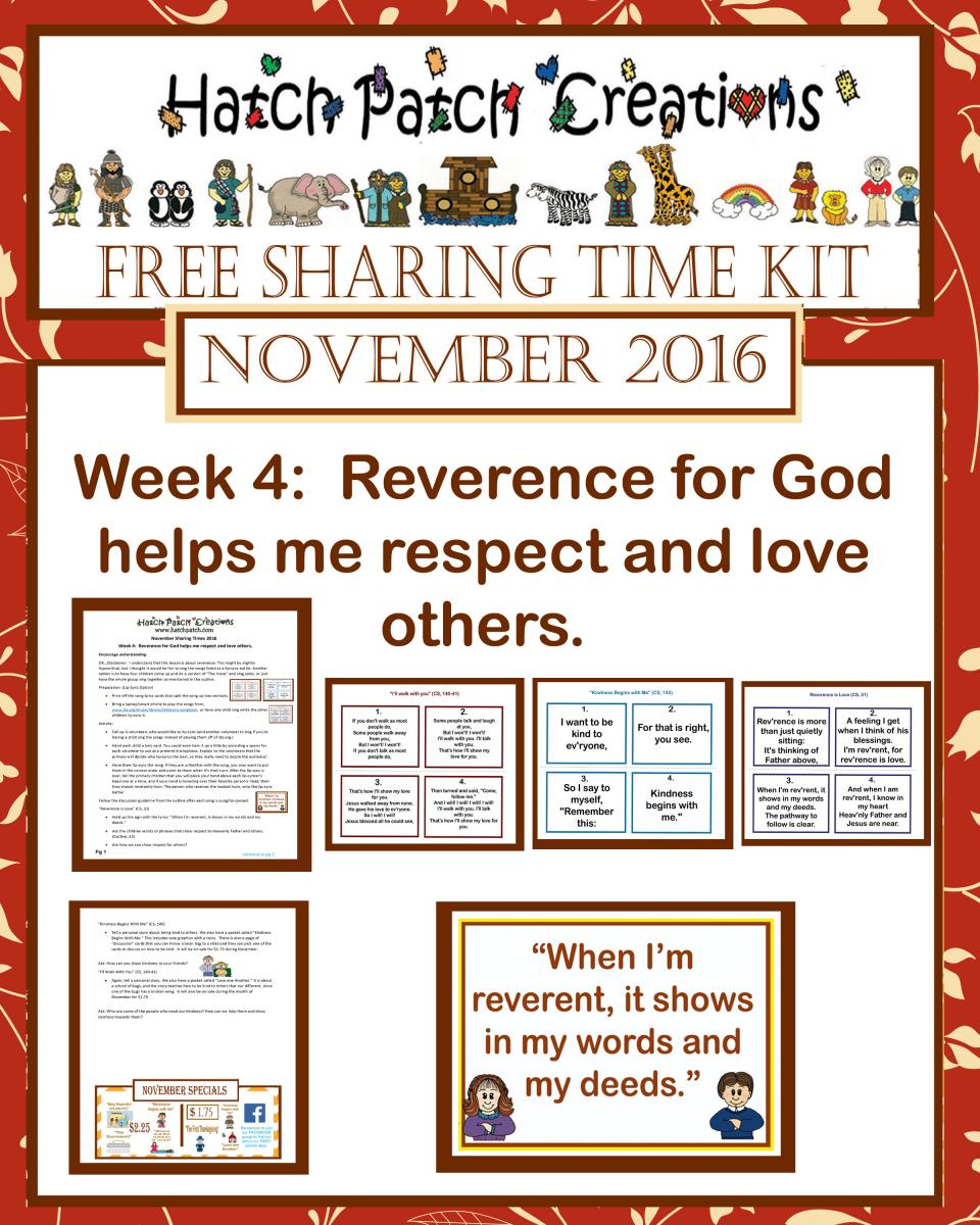 November 2016: Reverence Is Love and Respect for God - The Idea Door