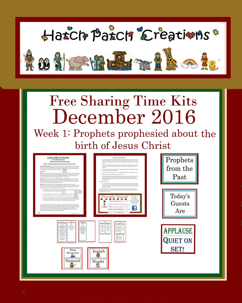 December 2016 sharing time ideas the idea door for Idea door primary sharing time