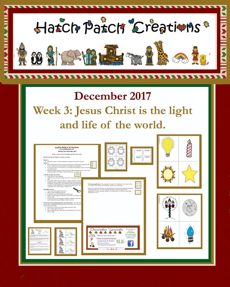 12 december 2017 sharing time jesus christ is the son for Idea door primary sharing time